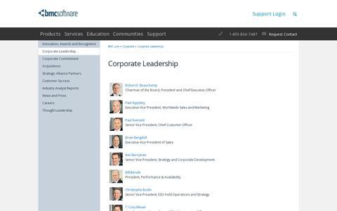 Screenshot of Team Page bmc.com - Robert E. Beauchamp - BMC Software - captured July 18, 2014