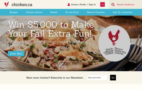 Screenshot of Home Page chicken.ca - Home » Chicken.ca - captured Sept. 23, 2018