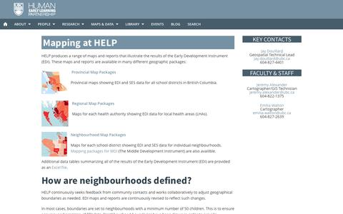 Screenshot of Maps & Directions Page ubc.ca - Maps - captured Sept. 18, 2014