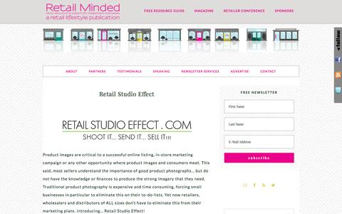 Screenshot of retailminded.com - Retail Studio Effect - captured March 29, 2017
