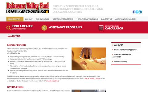 Screenshot of Signup Page dvfda.org - Delaware Valley Fuel Dealers' Association Membership and Events | DVFDA - captured Oct. 12, 2017