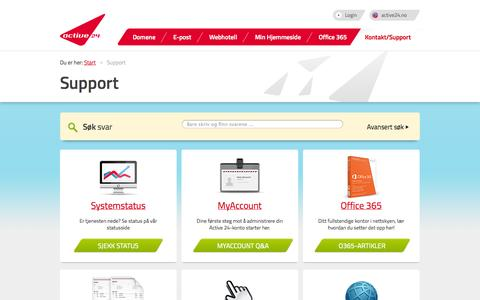 Screenshot of Support Page active24.no - Active24 Support -  powered by phpMyFAQ 2.7.8 - captured Sept. 19, 2014