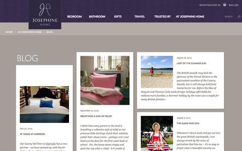Screenshot of Press Page josephinehome.co.uk - Josephine Home News Stories - captured Sept. 19, 2014