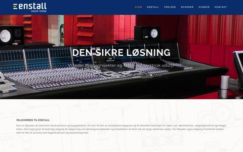 Screenshot of Home Page enstall.dk - DEN SIKRE LØSNING - Enstall - captured Jan. 29, 2016