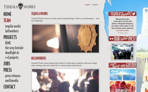 Screenshot of Team Page tequilaworks.com - Team | Tequila Works - captured Dec. 15, 2016