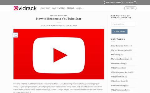 Screenshot of Blog vidrack.com - User Generated Video Blog - captured June 13, 2017