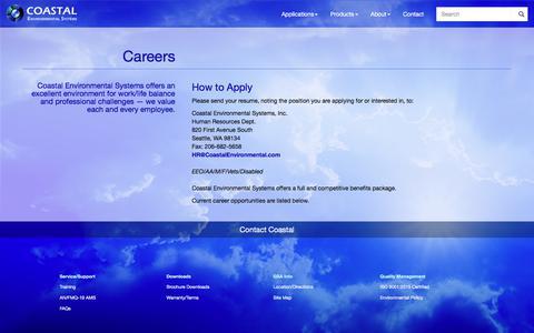 Screenshot of Jobs Page coastalenvironmental.com - Careers at Coastal - captured Aug. 9, 2017