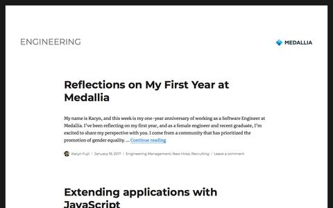 Medallia – Engineering
