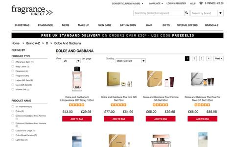 Dolce & Gabbana Perfume, Aftershave, Dolce and Gabbana Fragrance | Fragrance Direct