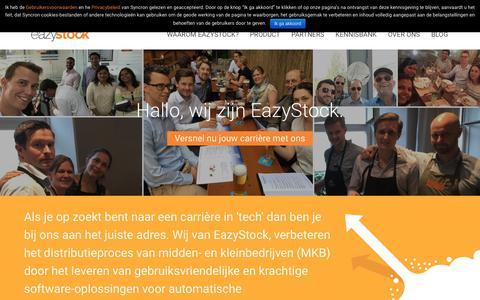 Screenshot of Jobs Page eazystock.com - Career & Job Opportunities - captured Oct. 21, 2018