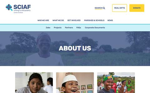 Screenshot of About Page sciaf.org.uk - About Us | Useful Information | SCIAF - captured April 21, 2018