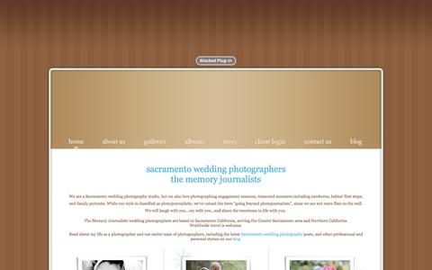 Screenshot of Home Page memoryjournalists.com - Sacramento Wedding Photographers - The Memory Journalists - captured Dec. 1, 2016