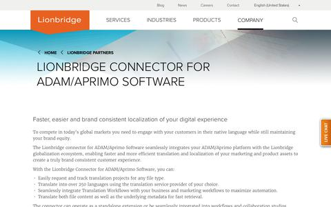 Lionbridge Connector for ADAM/Aprimo Software