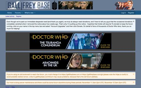 Screenshot of Terms Page gallifreybase.com - Terms and rules | The Doctor Who Forum at Gallifrey Base - captured Nov. 8, 2018