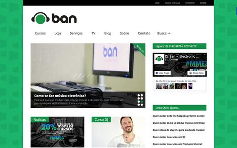 Screenshot of Home Page djban.com.br - DJ Ban EMC: Curso de DJ, Produção Musical e VJ - captured Feb. 7, 2016