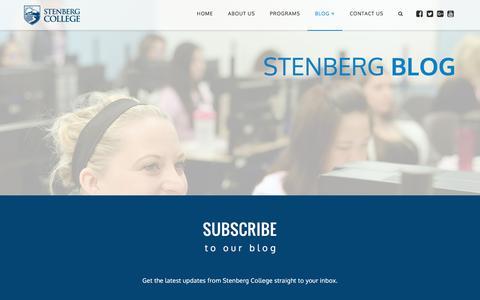 Screenshot of Blog stenbergcollege.com - Home - Stenberg College Blog - captured Aug. 16, 2016