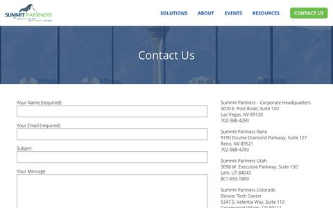 Screenshot of Contact Page gosummitpartners.com - Summit Partners - captured Sept. 27, 2018