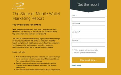 The State of Mobile Wallet Marketing Report: The Opportunity for Brands
