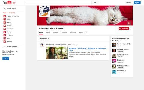 Screenshot of YouTube Page youtube.com - Mudanzas de la Fuente  - YouTube - captured Oct. 26, 2014