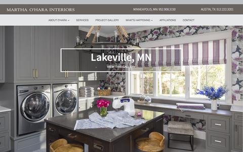 Screenshot of Home Page oharainteriors.com - An Interior Design Company in Minneapolis, | Martha O'Hara Interiors - captured Feb. 12, 2016