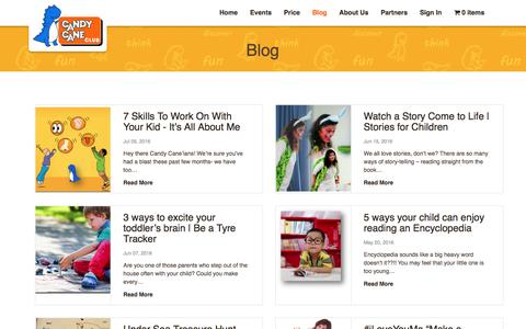 Screenshot of Blog candycaneclub.com - Blog-Parenting Tips & Kids Activities   CandyCaneClub - captured July 11, 2016