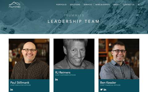 Screenshot of Team Page 7summitsinc.com - 7Summits: Leadership Team - captured July 9, 2018