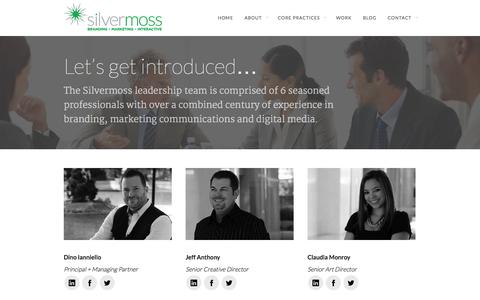 Screenshot of Team Page silvermoss.com - Our Team - Silvermoss - captured Nov. 5, 2014