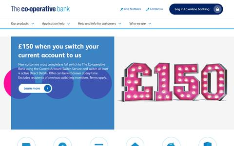 Screenshot of Home Page co-operativebank.co.uk - Personal banking | Online banking  | Co-op Bank - captured Aug. 19, 2016