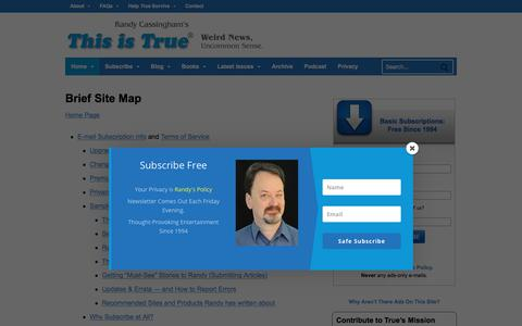Screenshot of Maps & Directions Page thisistrue.com - Brief Site Map – This is True - captured Oct. 25, 2017