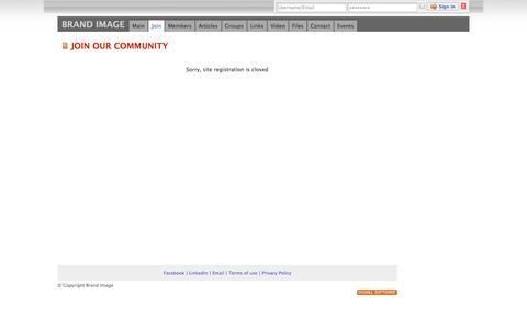 Screenshot of Signup Page brandimage.com.pk - Brand Image - social networking - captured Oct. 1, 2014
