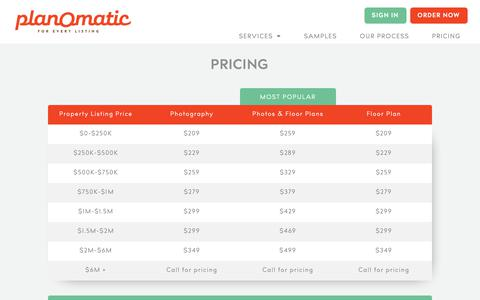 Screenshot of Pricing Page planomatic.com - PlanOmatic | Pricing - captured Nov. 16, 2018