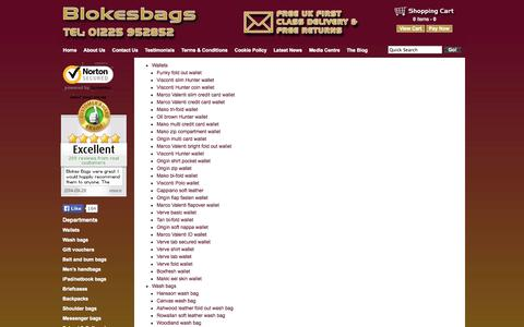 Screenshot of Site Map Page blokesbags.co.uk - Site Map - captured Sept. 30, 2014