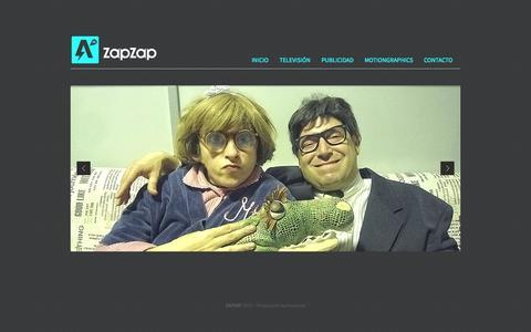 Screenshot of Home Page zapzapmedia.com - ZAPZAPmedia - captured Sept. 30, 2014