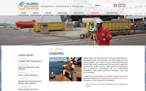 Screenshot of Jobs Page globalscanningsolutions.com - Careers - Global Scanning Solutions - captured July 15, 2016