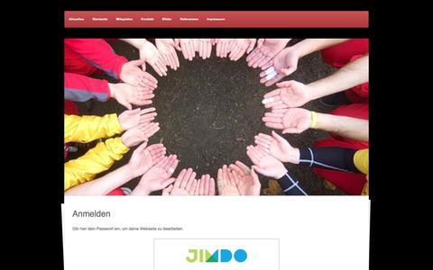 Screenshot of Login Page jimdo.com - Anmelden - fogo-do-ritmos Webseite! - captured June 10, 2016