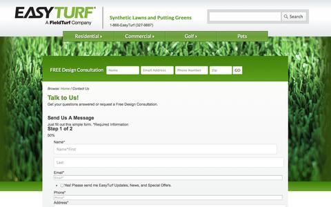Screenshot of Contact Page easyturf.com - Contact Us | EasyTurf - captured Oct. 22, 2014