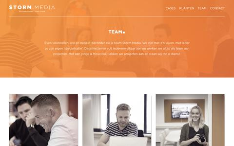 Screenshot of Team Page storm.media - Team - Storm.Media : Storm.Media - captured July 9, 2018