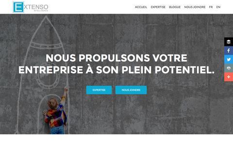 Screenshot of Home Page extensointelligence.com - Extenso Intelligence Inc. - Agence-conseils en stratégie commerciale et intelligence de marchés. - captured Nov. 15, 2016