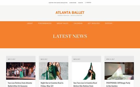 Screenshot of Press Page atlantaballet.com - Atlanta Ballet News   Atlanta Ballet - captured May 31, 2017