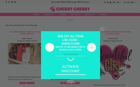 Screenshot of Press Page cherrycherry.com - News – Cherry Cherry - captured Nov. 4, 2018