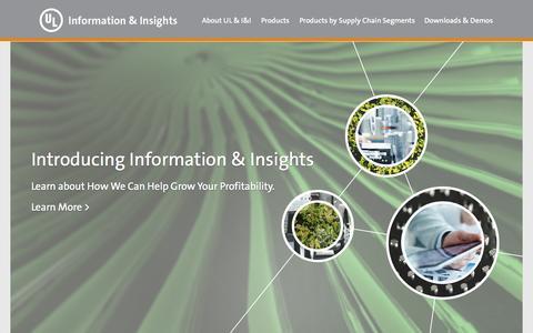 Screenshot of Home Page ulinsights.com - Information & Insights - captured Oct. 3, 2014