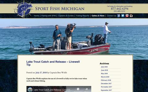 Screenshot of Blog sportfishmichigan.com - SFM Blog - Fishing Guide Services in Northern Michigan - captured Oct. 20, 2018