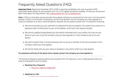 Candidate FAQ