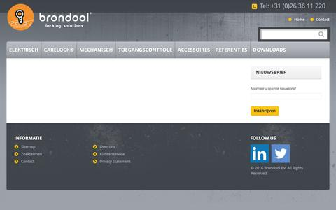 Screenshot of Login Page brondool.nl - Brondool Electric Doorlocks - captured Feb. 8, 2016