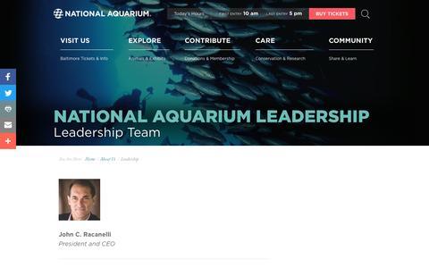 Screenshot of Team Page aqua.org - National Aquarium | Leadership - captured Feb. 11, 2017