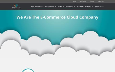 Screenshot of Home Page webscalenetworks.com - E‑Commerce Cloud Company | Webscale - captured July 5, 2018