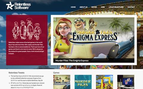Screenshot of Home Page relentless.co.uk - Relentless - captured Oct. 1, 2014
