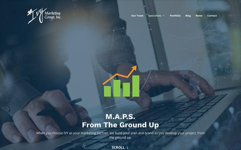 Screenshot of Maps & Directions Page ivymarketing.com - M.A.P.S. - From the Ground Up - Ivy Marketing Group - captured Sept. 25, 2018