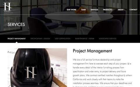 Screenshot of Services Page hoguesf.com - Services | Hogue SF | Office Furniture + Project Management - captured Jan. 30, 2016