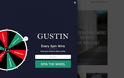 Screenshot of Home Page weargustin.com - Gustin | Premium Menswear - Jeans, Shirts and Accessories - captured May 26, 2018